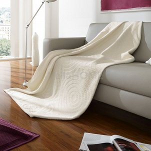 Koc Bocasa - Relief Cotton - Twisting - ecru