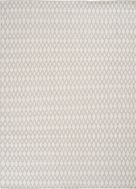 Dywan Elliot White Linie Design Wełniany Biało Szary